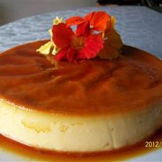 Flan Mexicano (Mexican Flan) Recipe - hope this is something like the Cake Lady's recipe (Sayulita, Mexico), hers is the BEST Mexican Flan, Mexican Dishes, Mexican Food Recipes, Dessert Recipes, Comida Latina, Latin Food, Mole, Just Desserts, The Best