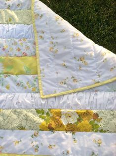 Shabby Chic Baby Quilt Vintage Linens I may make this in twin sized for Mia! -hc