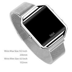 Stailess Steel Bracelet Strap for Fitbit Blaze Smart Fitness WatchLarge with Unique Magnet Lock