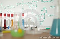 Chemical laboratory with the formula DNA