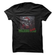 The Walking Sled Santa - #gift tags #gift certificate. SAVE => https://www.sunfrog.com/TV-Shows/Walking-Dead-Santa-Shirt-4.html?68278