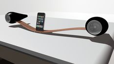 Ipod dock woth speakers...like an airplane...interesting