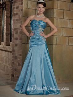 Glamorous Floor-length Blue Sweetheart Evening Dresses [10121664] - US$126.99 : DressKindom