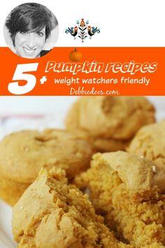 Weight watcher friendly pumpkin recipe ideas. #debbiedoos