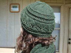 Free Pattern: Brooke's Column of Leaves Knitted Hat by Brooke Nelson