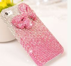 Pink bow diamond Hard Back Mobile phone Case Cover bling girly Rhinestone Case Cover for iPhone 4 4s 5 5c 5s 6 6 plus Samsung galaxy s3 s4 s5 s6 note2 3 4