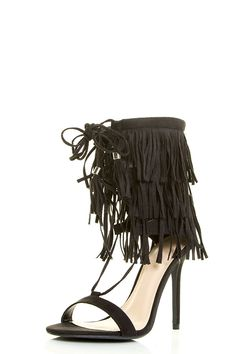 Wild Diva Womens Open Toe Corset Tassel Lace Up Fringe Stiletto Heel Sandal ** Don't get left behind, see this great  product : Lace up sandals