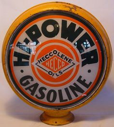 We buy, sell, and appraise Hi Power Gasoline Globe Porcelain Signs. Old Gas Pumps, Vintage Gas Pumps, Vintage Signs, Vintage Ads, Painted Globe, American Pickers, Gas Company, Old Gas Stations, Oil Drum