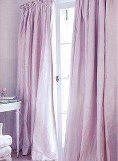 curtains, drapery, lavender, purple, lilac, bedroom, interior design, interior