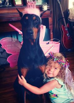 Dobes are the sweetest with kiddos! another pinner: Alexa Kate Anderson Princess Payne and my three year old niece