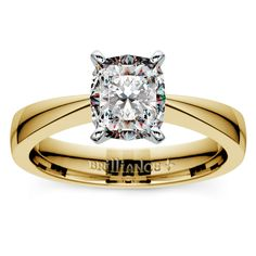 Fashion is ever-changing, but style experts say that it's impossible to go wrong with a true classic.. and we agree. Propose to your sweetheart with the elegant, timeless Flat Taper Cushion Diamond Solitaire in Yellow Gold!  http://www.brilliance.com/engagement-rings/flat-taper-solitaire-ring-yellow-gold