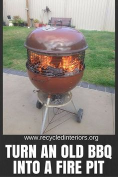 How to make an Upcycled BBQ Fire Pit http://ift.tt/1Oj0i1r weather is definitely very much turned to winter across Australia this weekend and this makes you think or warm rugs soaking hot baths and fires! Do you have an outdoor area you would love to warm with a fire pit? They can be brilliant for toasting marshmallows making your own damper and warming your fingers and toes on a crisp winter evening in the garden. Wendi shared this on our Facebook page a while ago and it went a little…