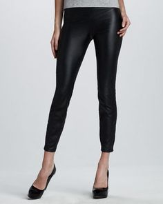 How to Take Rocker-Chic Style From Day to Night #fauxleatherleggings