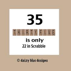 35th Birthday Card 35th Birthday Funny by DaizyBlueDesigns on Etsy, $4.00