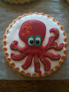 Octopus cookie by Cookie Cowgirl