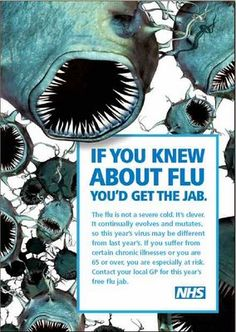 nhs flu jab health poster design
