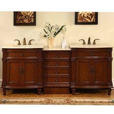 90 inch traditional double bathroom vanity | bathroom vanities 90