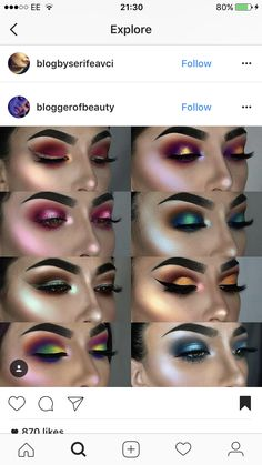 Eye Makeup Tips.Smokey Eye Makeup Tips - For a Catchy and Impressive Look Metallic Eyeshadow Palette, Shimmer Eyeshadow, Eyeshadow Looks, Makeup Eyeshadow, Glitter Makeup, Mac Makeup, Makeup Kit, Eyeshadow Ideas, Eyeshadow Styles