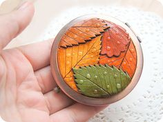 Hey, I found this really awesome Etsy listing at https://www.etsy.com/ru/listing/204793851/nature-pocket-mirror-colorful-leaves