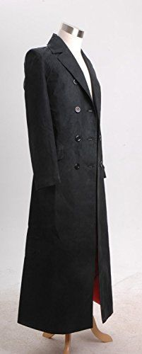 Dr. Long Trench Coat Costume Black Version