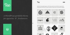 Tao: a modern & responsive 3D WordPress portfolio theme with beautiful transitions and animations by onioneye Tao is a modern, responsive, and an incredibly easy-to-use WordPress portfolio theme. Quick to setup and easy to customize, thank