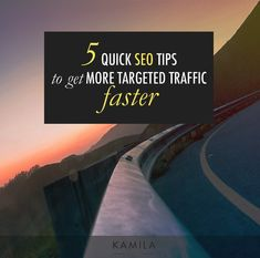 In this post, you will learn the 5 quick SEO Tips that will help your business get a lot more TARGETED traffic fast! Let's make magic happen!
