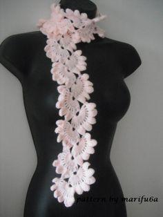 video patron de bufanda how to crochet pink scarf free pattern,tutorial for beginners (+playlist)