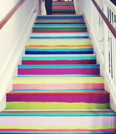These make me happy  painting stairs - Google Search