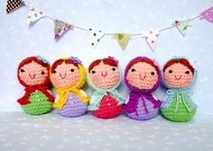 Baby Matryoshka Babushka Amigurumi Keychain Dolls