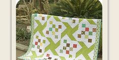 This Lighthearted Quilt is Sure to Lift Gray Days! Spring greens are sweet and refreshing in this charming quilt. It instantly evokes the scent of freshly mown grass and the feel of sun on our faces. It's a wonderful quilt for brightening gray and chilly days. Of course, it will be sensational in other colors …