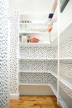 Inspiring Pantry Makeover Using a Stencil