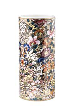 Golden Flowers Large Vase | Roberto Cavalli Home
