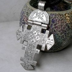 Antique Coptic Cross Vintage Ethnic Tribal Silver by Foret on Etsy