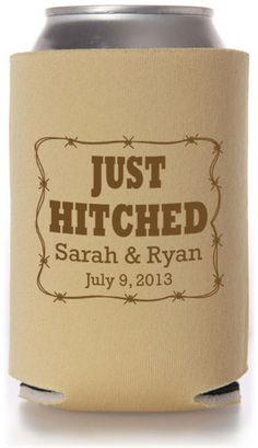Themed Designs Wedding Can Coolers #wedding #koozies