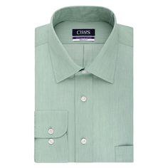 Men's Chaps Regular-Fit No-Iron Stretch-Collar Dress Shirt, Size: 1
