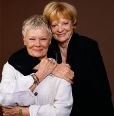 Dame Maggie Smith & Dame Judi Dench. So much class in one photo. The camera must've danced for joy.