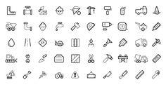 GFX Stacks | 50 Vector Construction Icons