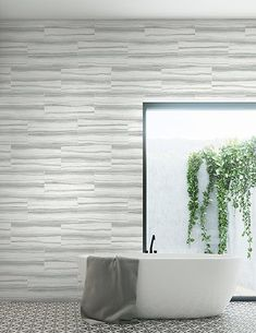 Modern Foundation ref: - designer wallpaper in a grey wooden tile effect adds warmth and depth to your walls. Home Wallpaper, Wallpaper, Wooden Tile, Modern Interior, Wallpaper Samples, Tile Wallpaper, Wood Effect Wallpaper, Modern, Industrial Wallpaper