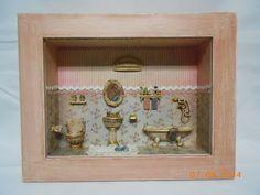 Cenário banheiro vintage