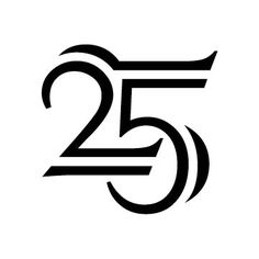 25th Year Anniversary Graphic Art/Design: Taber Calderon 25 Year Anniversary, Anniversary Logo, Graphic Design Art, Logo Design, Typographic Logo, Letters, Logos, Clothes, Outfits