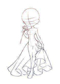 Chibi Pose Reference (Simple Chibi Base Set by Nukababe Dress Drawing, Manga Drawing, Chibi Drawing, Anime Drawings Sketches, Cute Drawings, Dress Sketches, Chibi Sketch, Poses References, Drawing Techniques