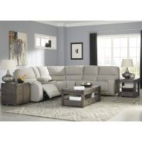Bohannon - Putty - 3 Pc Reclining Power RAF Loveseat Sectional