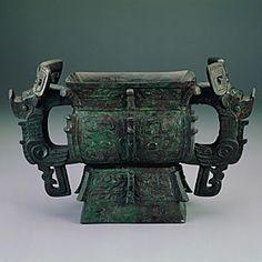 Ya-ch'ou Square Kuei. Ritual vessel in the late Shang period