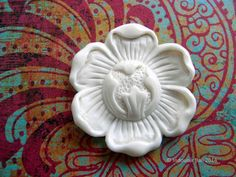 Ripe Carved Bone Cabochon 40mm - Indounik (Indonesia) - $14.00