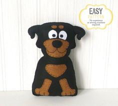 This listing is for a stuffed rottweiler (dog) sewing pattern in PDF format. ~~~o~~~o~~~o~~~o~~~o~~~o~~~o~~~ • This is a DIGITAL DOWNLOAD, not a PHYSICAL PRODUCT. You will not receive anything in the mail / by post. • You are welcome to sell personally-made finished products made