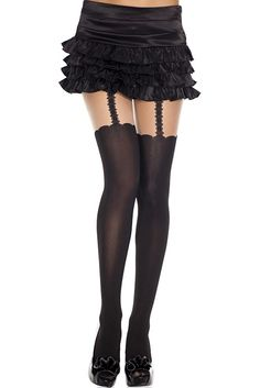 #MusicLegs #StaySexy   https://www.fifty-6.com/en/catalog/clothing/music-legs/hosiery/garterbelt-look-pantyhose Cod.: ml7298 Garterbelt look pantyhose Spandex opaque garterbelt look #pantyhose   Color: black/beige Sizes: One Size Material: 100% nylon
