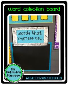 Clutter-Free Classroom: WORD COLLECTION BOARD {Classroom 360}