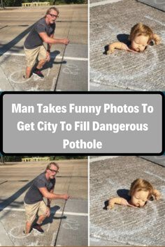 We all know that paperwork and administration can take a very long time, and sometimes just filing a complaint about something doesn't suffice. When this man from Dallas, Texas spotted a rather dangerous pothole in the street, he decided to take a very creative and original approach to fix the problem. Pregnancy Problems, This Man, Filing, Celebrity Gossip, Funny Photos, Movies And Tv Shows, Fun Facts, Health Care, Health Fitness