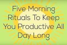 Adopt these five easy habits every morning to channel productive energy and mindful focus throughout the day.
