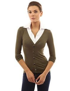 Patty Women's Collar Pleated Long Sleeve Pullover from $35.99 by Amazon BESTSELLERS